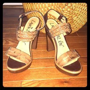 Lanvin Leather Wood Heels